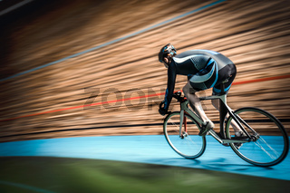 Athlete on a cycle track