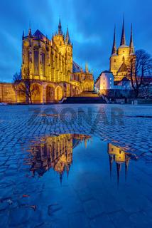 Die Erfurter Kathedrale und die Severikirche