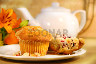 Cranberry muffins for breakfast