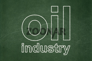 Manufacuring concept: Oil Industry on chalkboard background