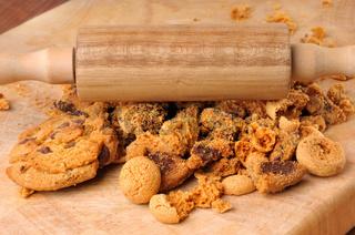 Kekse für Tortenboden zerkleinern