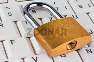Data security for computers. Padlock