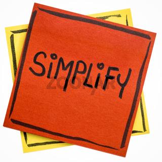 simplify reminder note