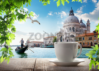 A cup of coffee in Venice