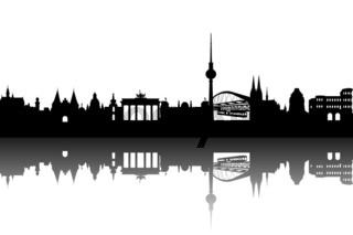 Deutschland Silhouette abstrakt