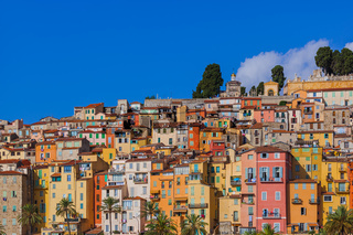Town Menton in France