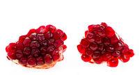fresh ripe pomegranates on white isolated background