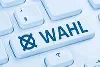 Online Wahl wählen Internet blau Computer Tastatur