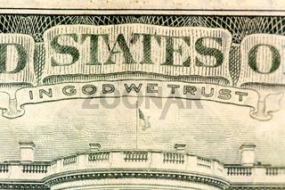 IN GOD WE TRUST / Text auf einem Dollarschein