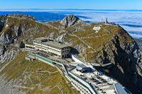 Historical mountain hotel Pilatus-Kulm, Pilatus massif, Alpnachstad, Switzerland