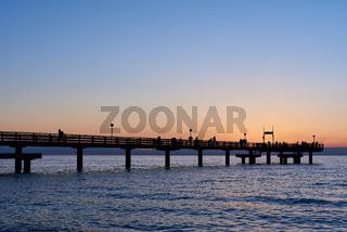 Seebrücke Rerik im Sonnenuntergang