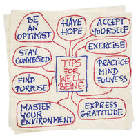 tips for well being on napkin
