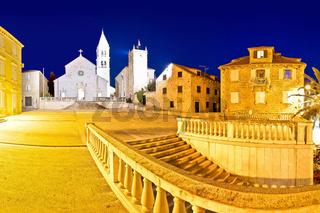 Town of Supetar on Brac island evening panorama