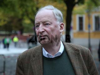 Alexander Gauland ( AfD Brandenburg) auf der Wahlkampfveranstaltung am 12.09.2017 in Magdeburg