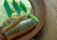 fried herring fillets.