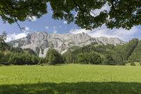 Teilansicht des südlichen Dachsteinmassivs, Steiermark, Österreich