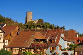 Kaysersberg im Elsass - town Kaysersberg in Alsace, France
