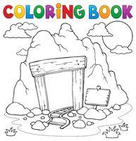Coloring book mine entrance
