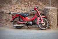 Old red motorbike