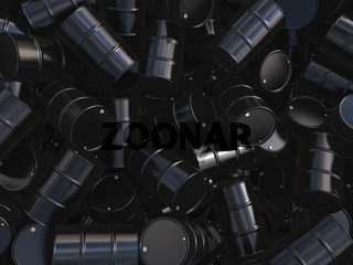 3D rendering black barrels