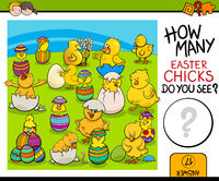 counting task with easter chicks