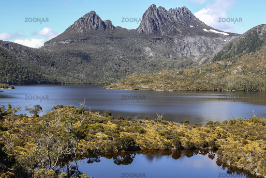 Beautiful mountain scenery, Dove Lake, Cradle Mountain NP, Tasmania