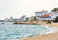Coastline of Platja d'Aro. Spain