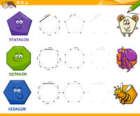 geometric shapes drawing worksheet