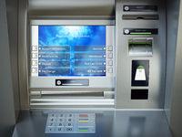 ATM machine. Automated teller bank cash machine.