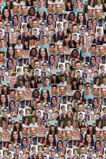 Collage Menschen junge Leute Hintergrund lachen große Gruppe