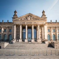 The Reichstag building - german parliament building in Berlin