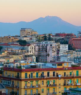 Cityscape of Naples, Italy