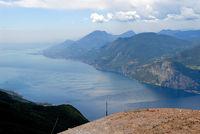 Blick über den Gardasee vom Monte Baldo