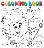 Coloring book Valentine theme 6