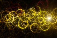 Futuristic circle background design illustration with lights