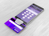 Smartphone and bank card reader