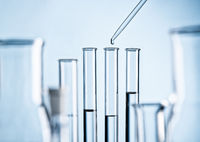 Laboratory with test tubes and pipette