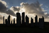 Callanish Standing Stones, 3000 year old stone circle, Isle of Lewis