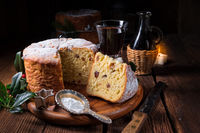 Fresh and delicious panettone