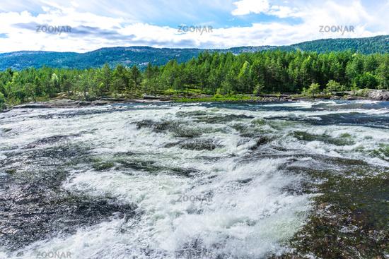 Rapids in Evje in Norway