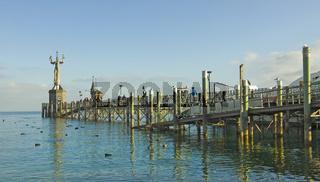 Hafensteg mit Imperia Konstanz