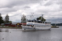 KARLSBORG, SWEDEN - AUGUST 19, 2016: Historical steamer Sandon on the lake Vaenern near Karlsborg in