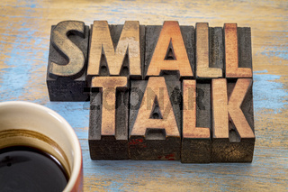 Small talk word abstract