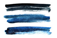 Black and blue brush strokes