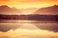 Staffelsee lake in Bavaria Germany