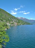 idyllic Lake Maggiore in Ticino Canton,Switzerland