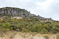 Demerdzhi Mountain with Ekaterina Head Rock