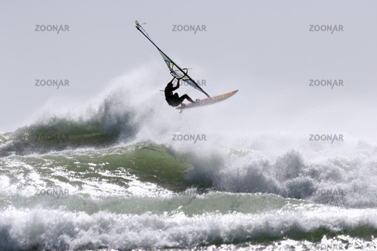 Windsurfen in Pungarehu, Neuseeland