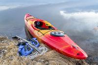 whitewater kayak on lake