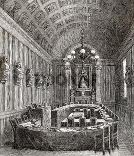 Conference hall, Académie Française, Paris, France, 19th century